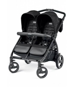 Прогулочная коляска для двойни Peg-Perego Book for Two MOD BLACK