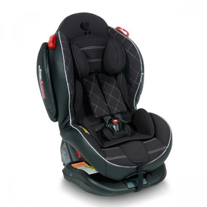 Автокресло Bertoni ARTHUR ISOFIX (0-25кг) Black Leather