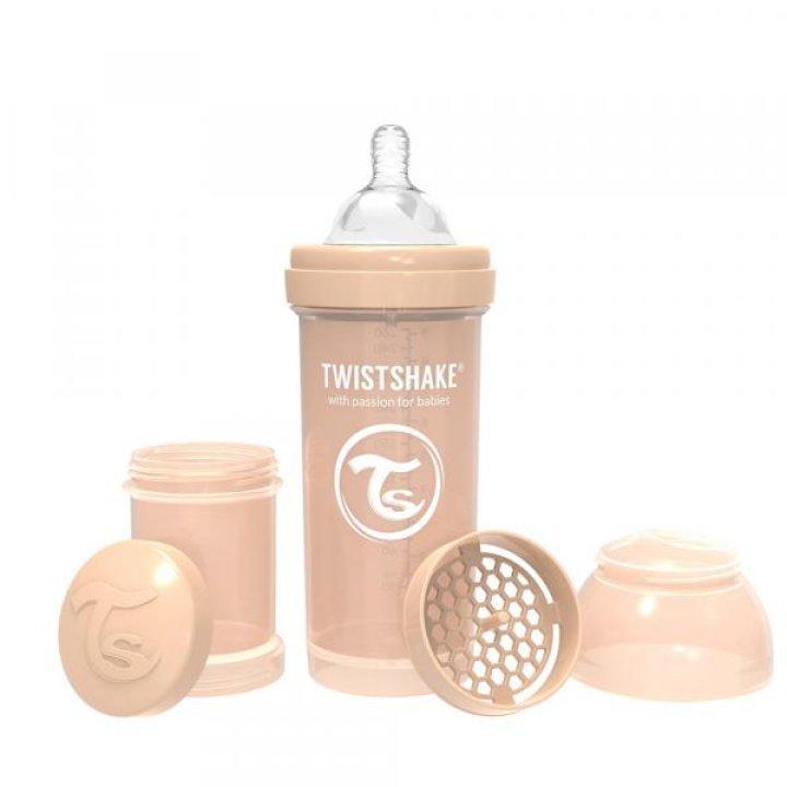 Twistshake антиколиковая бутылочка 260мл Бежевая (78259)