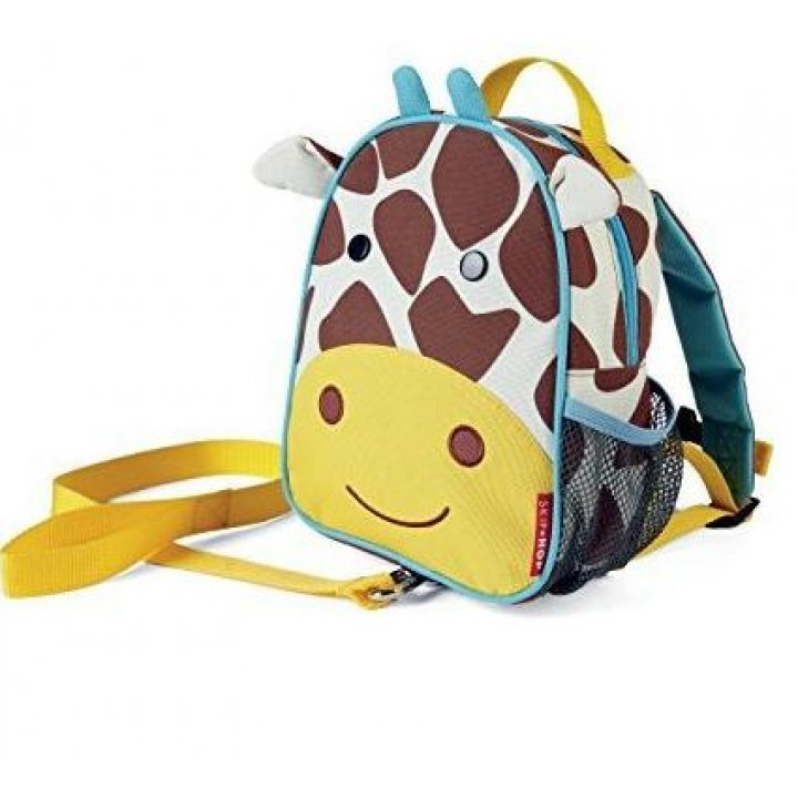 Детский рюкзак с ремешком безопасности Skip Hop Zoo Жираф (212258)