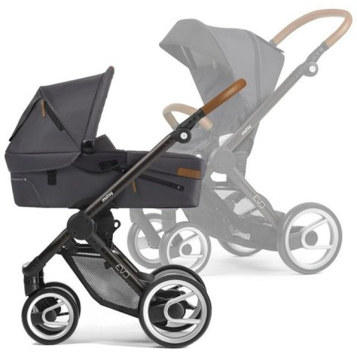 Универсальная коляска Mutsy 2 в 1 EVO Urban Nomad Dark Grey /Industrial Black Brown