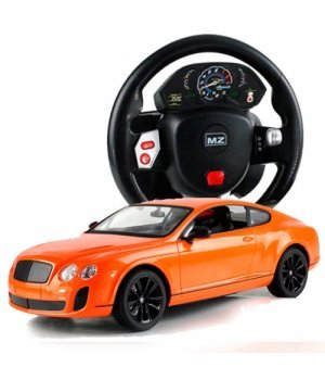 Автомобиль на радиоуправлении Bentley GT Supersport, 1:14 (гиро-руль), MZ Meizhi оранжевый