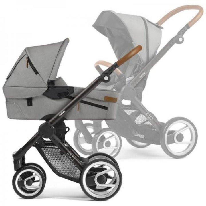 Универсальная коляска Mutsy 2 в 1 EVO Farmer Light Grey / Industrial Black Brown