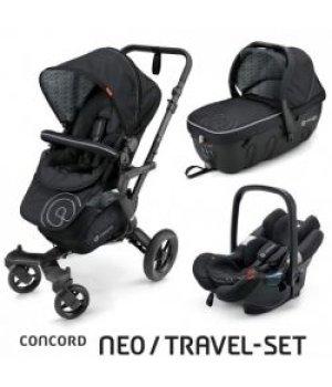 Универсальная коляска 3 в 1 Concord NEO Travel Set Midnight Black 2016