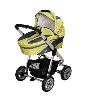 Универсальная коляска 2 в 1 Coneco V3 Mustang 06 (лимонный)