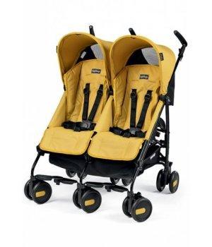 Прогулочная коляска для двойни Peg-Perego PLIKO MINI TWIN Classico MOD YELLOW