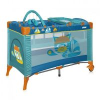 Манеж кроватка Bertoni Just4kids Arena 2 Layer Plus cat aquamarine