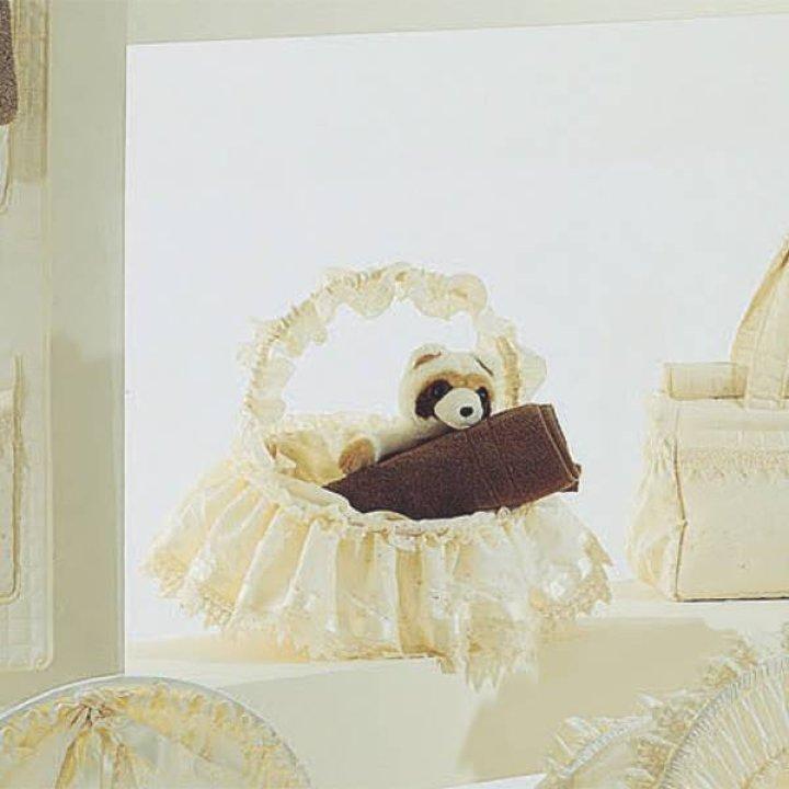 Плетеная корзинка Ruggeri SOGNI DORO кремовый