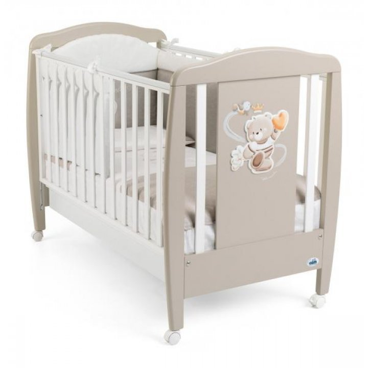 Детская кроватка САМ ORSO G212 Кофейная с белым
