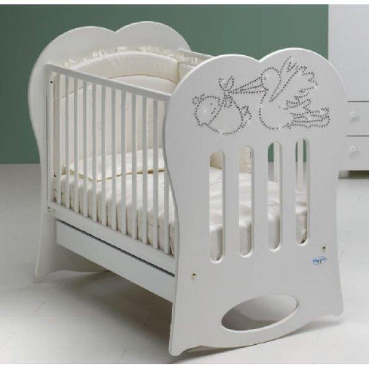 Кроватка Baby Italia CRYSTAL белый