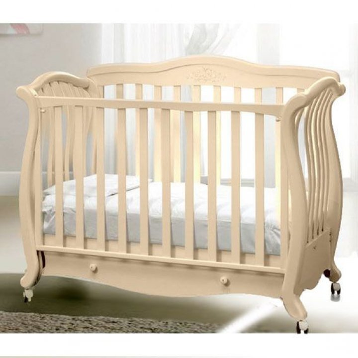 Детская кроватка Baby Italia ANDREA LUX GLITTER Слоновая кость