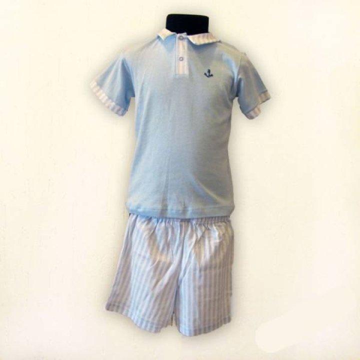 Детская пижама для мальчика Kiccaeciccio размер: 12, голубой
