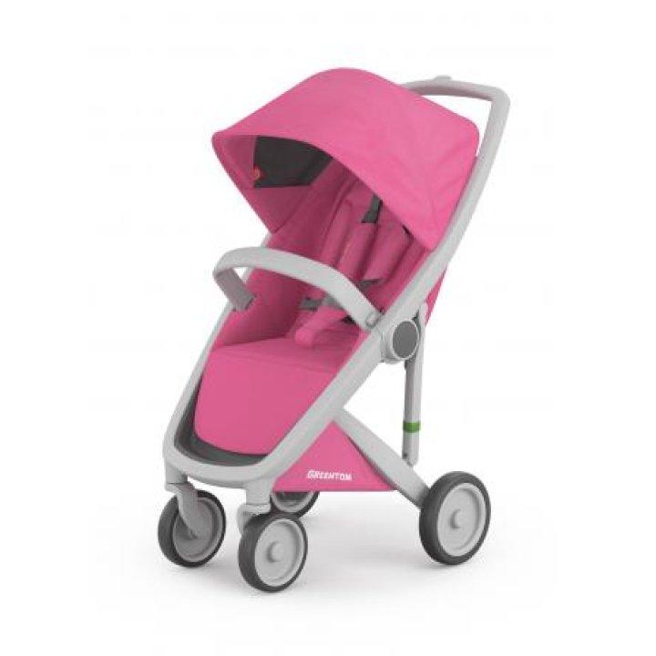 Прогулочная коляска Greentom Upp Classic Roze (Розовая) шасси Grey