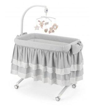 Приставная колыбель-кроватка CAM Cullami LUXE с постелью Серая 151