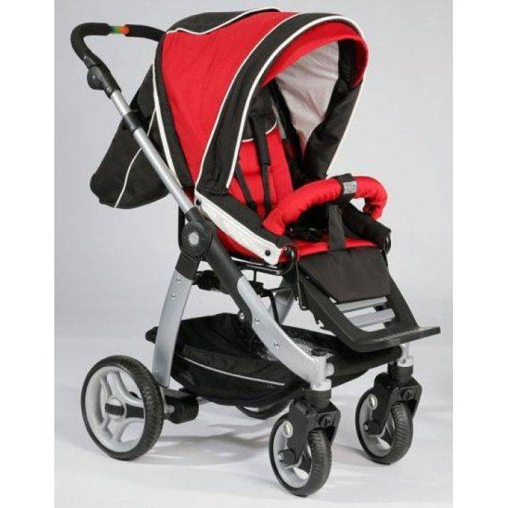 Прогулочная коляска Teutonia Cosmo Красный с черным