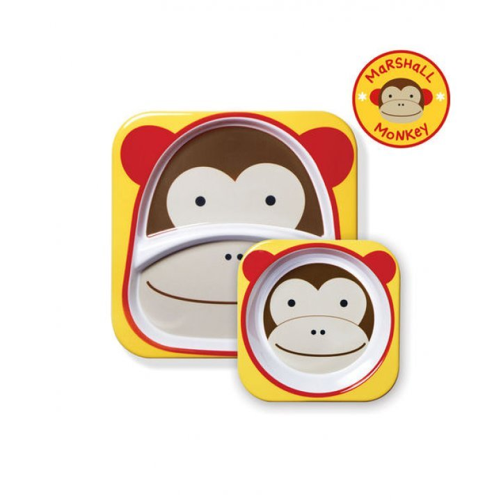 Набор тарелок Skip Hop Zoo Мартышка (252202)