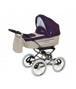 Универсальная коляска 2 в 1 Aneco Avinion фиолетовый с бежевым