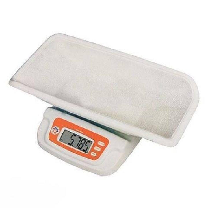 Детские электронные весы Mebby (белый, оранжевый)
