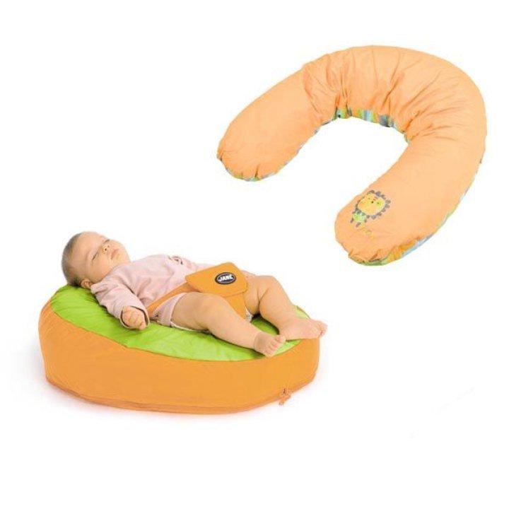 Подушка для кормления и отдыха Jane оранжевый с полосками