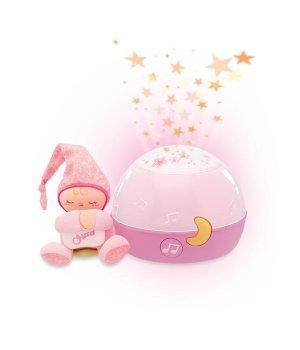 Детский ночник-проектор Chicco Звезды Розовый