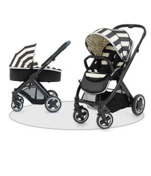 Универсальная коляска 2 в 1 BabyStyle Oyster 2 Vogue Humbug / Mirror (Полосатая)