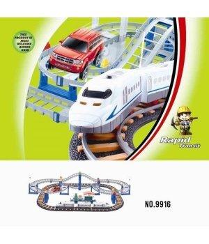 Железная дорога с поездом LiXin (90х58см)