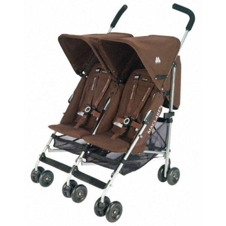 Прогулочная коляска для двойни Maclaren Twin Triumph Coffee