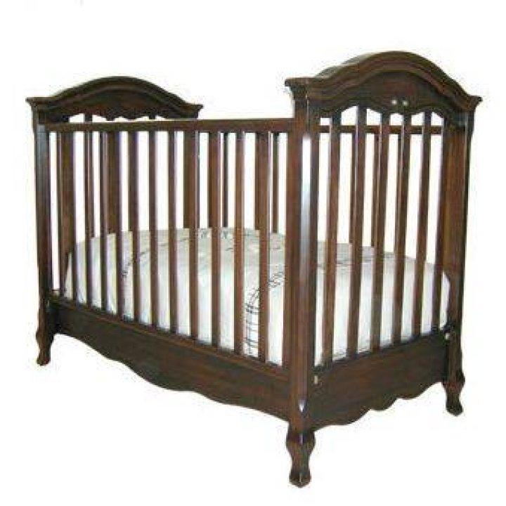 Детская кроватка Natart Paris Темный орех