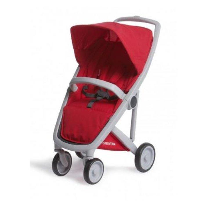 Прогулочная коляска Greentom Upp Classic Red (Красная) шасси Grey