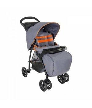 Прогулочная коляска Graco Mirage Plus с чехлом на ножки Neon grey