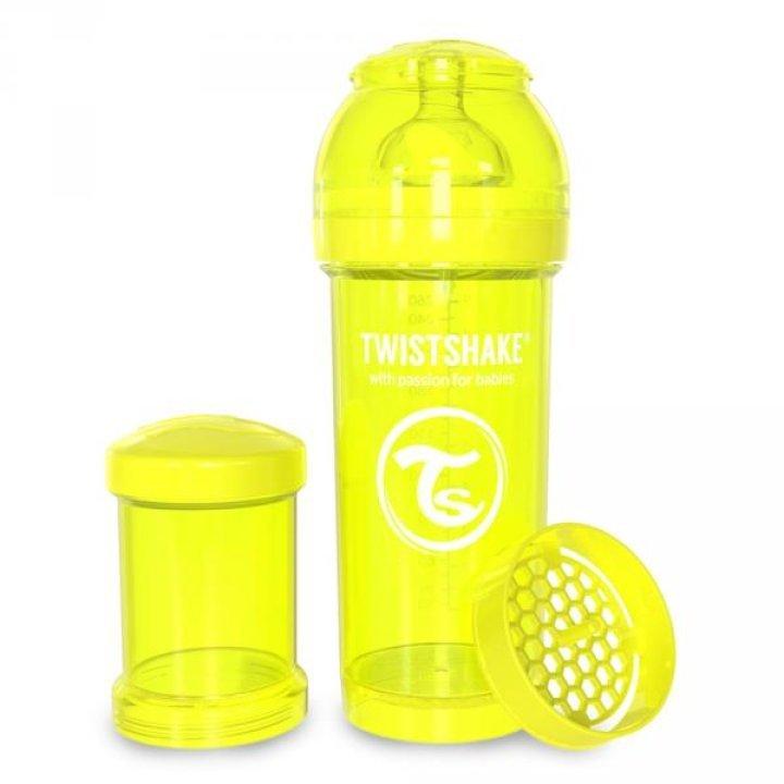 Twistshake антиколиковая бутылочка 260мл Желтая (78040)