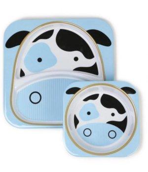 Набор тарелок Skip Hop Zoo Корова (252222)