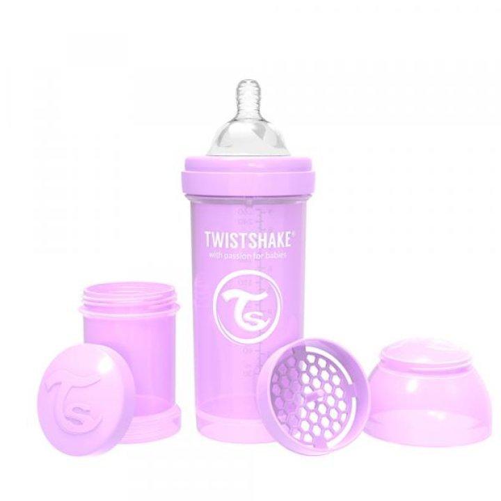 Twistshake антиколиковая бутылочка 260мл Лавандовая (78258)