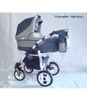 Универсальная коляска 2 в 1 Adbor Siesta 19 (graphite - light grey)