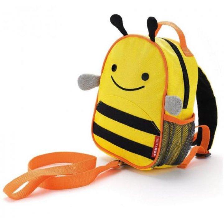 Детский рюкзак с ремешком безопасности Skip Hop Zoo Пчёлка (212205)