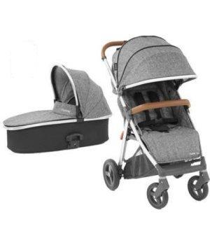 Универсальная коляска 2 в 1 BabyStyle Oyster Zero Wolf Grey